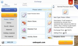 Cara Mendapatkan Normal Precision Stone Ragnarok Mobile ombopak.com