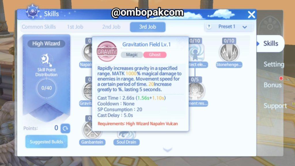 High Wizard Skill Ragnarok Origin ラグオリ   라그나로크 오리진 3