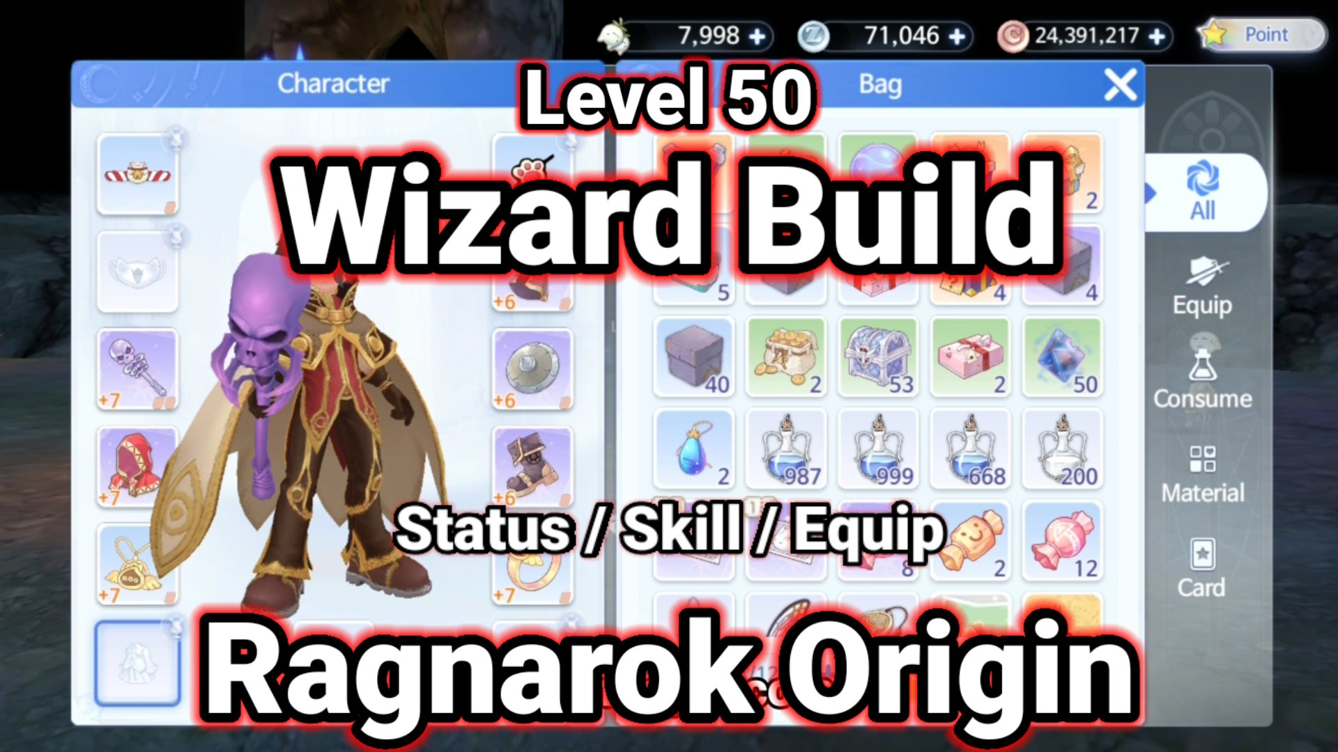 Level 50 Wizard Build Ragnarok Origin ラグオリ | 라그나로크 오리진 1